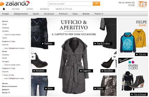 SALDI CAPPOTTO ZALANDO NEW