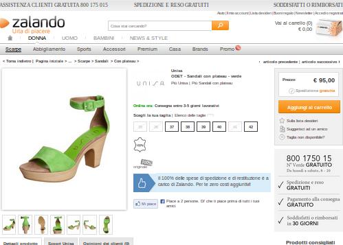 Saldi Unisa scarpe verdi