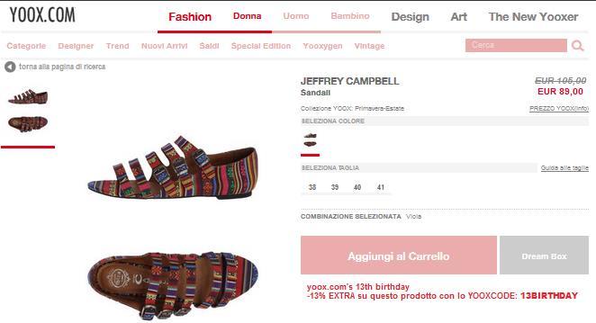 offerte jeffrey campbell  scarpe