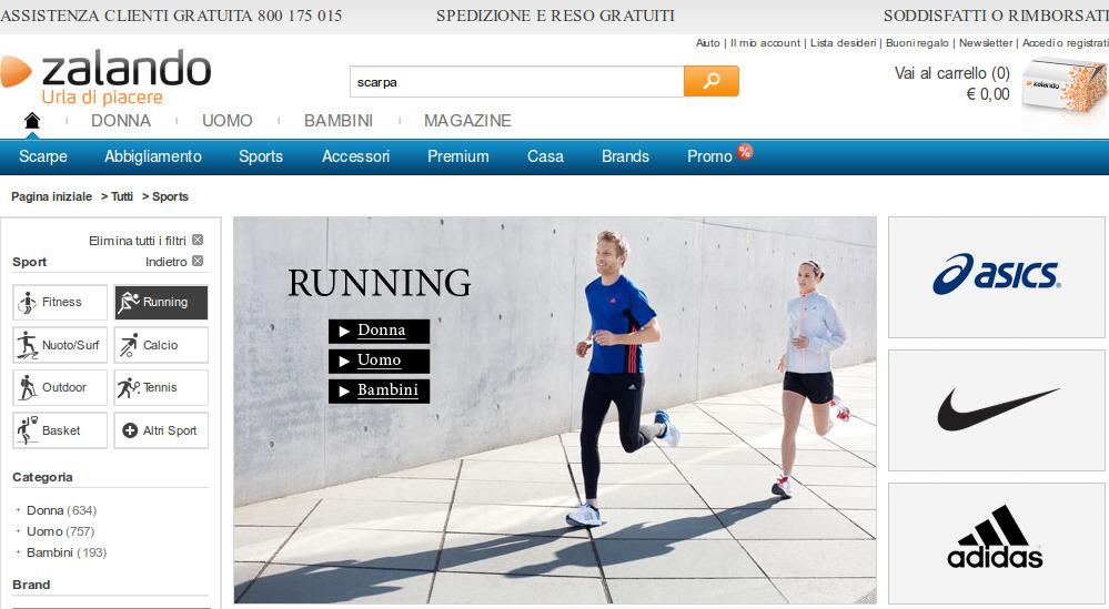 Assortimento sportivo collezione running sportiva