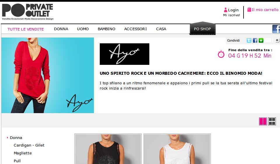Vendite private Ayo Shopping prive: tutti i saldi possibili online