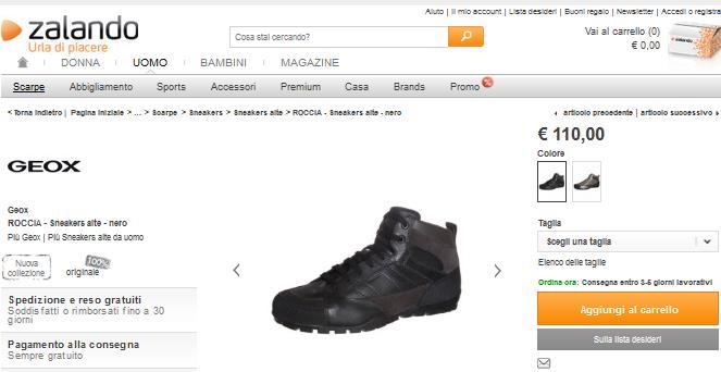scarpe geox saldi